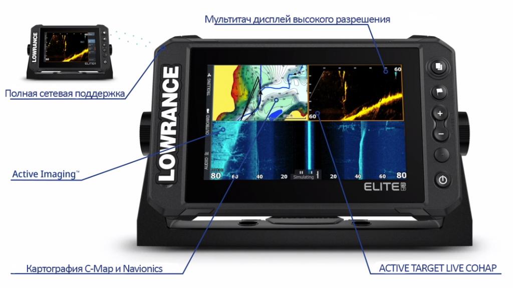 Эхолот Lowrance Elite FS™ 9 с датчиком Active Imaging 3-in-1 купить в  Ставрополе