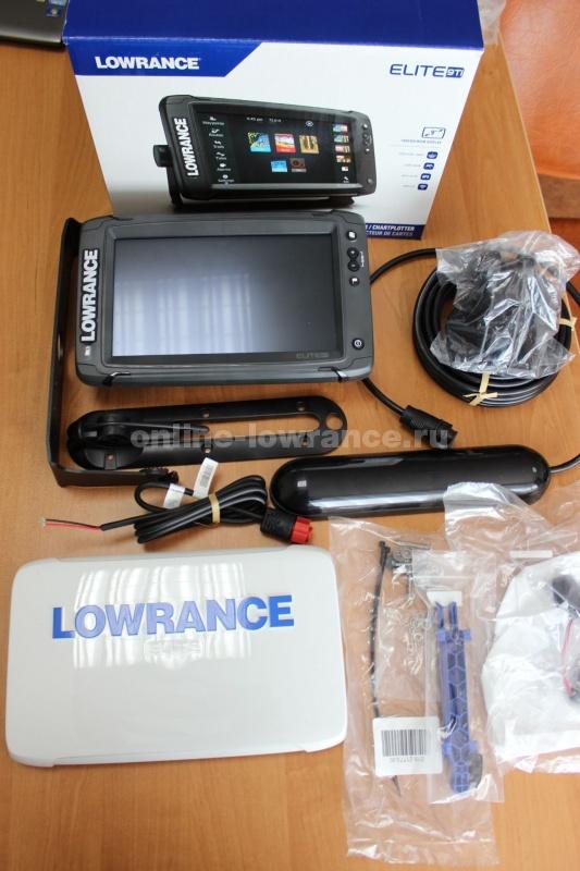 Эхолот-картплоттер Lowrance Elite-9 Ti Mid/High/TotalScan